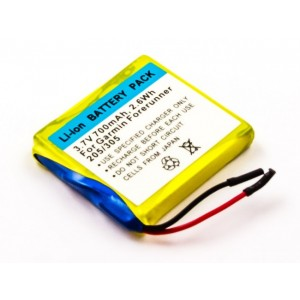Bateria para GPS Garmin Forerunner 205 305, 3,7V 700mAh 2,6Wh