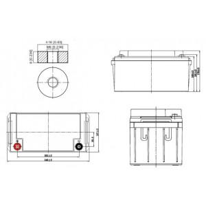 Bateria Solar Deep-Cycle AGM 12V 80Ah (C100) Kaise