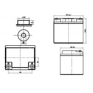 Bateria Deep-Cycle 12V 40Ah (C20) Kaise Gel