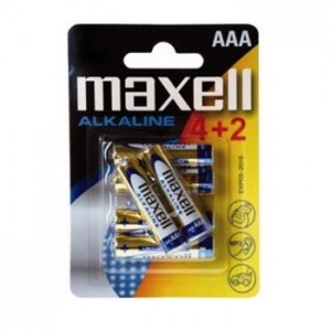 AAA (LR03) Pilha Alcalina Maxell (4+2 unid)