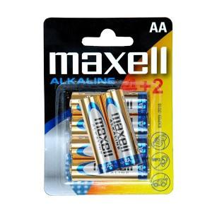 AA (LR06) Pilha Alcalina Maxell (4+2 unid)