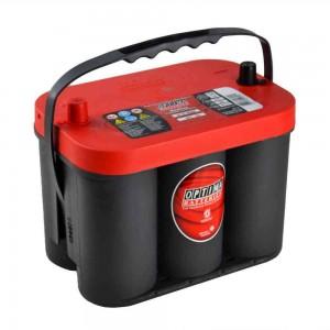 Bateria Optima Gel 50Ah 815A para automóvel com alta capacidade de arranque - Red Top RT C 4.2