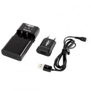 Carregador universal de baterias de câmaras fotográficas, video, telemóveis e pilhas recarregáveis (Ansmann)