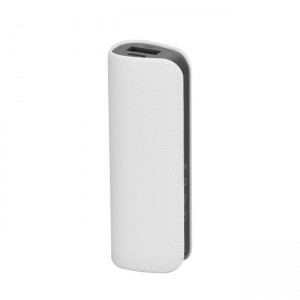 Powerbank 2.600mAh leather (bateria de emergência) - branco