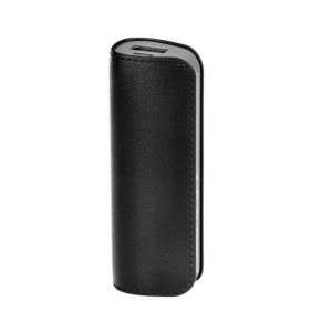 Powerbank 2.600mAh leather (bateria de emergência) - preto