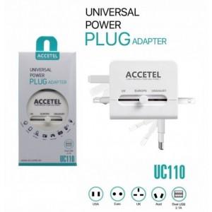 Adaptador de Viagem Universal (UK, USA, AU e EU) + dual USB 2.1A