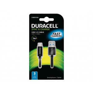 Cabo 1Mtr USB Type A para USB Type C (Duracell)