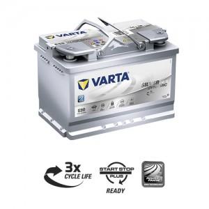 Bateria automóvel 12V 77Ah 760A VARTA Silver Dynamic AGM E39 (Start-Stop)