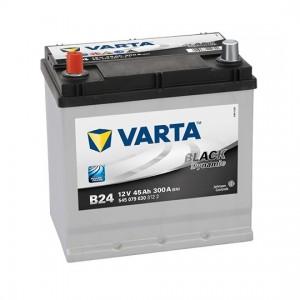 Bateria VARTA 12V 45Ah 300A Black Dynamic B24 219x135x225mm +/-