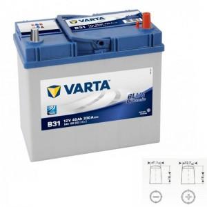 Bateria VARTA 12V 45Ah 330A alta performance 238x129x227mm -/+