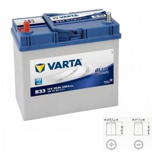 Bateria automóvel 12V 45Ah 330A VARTA Blue Dynamic B33