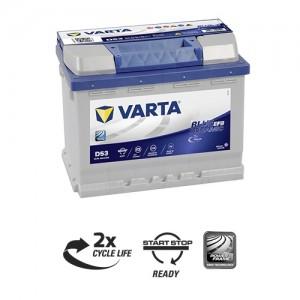 Bateria automóvel 12V 60Ah 640A VARTA Blue Dynamic EFB N60 (Start-Stop)