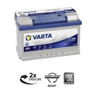 Bateria automóvel 12V 65Ah 650A VARTA Blue Dynamic EFB D54 (Start-Stop)