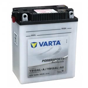 Bateria mota YB12AL-A 12V 12Ah Varta alta performance 136x82x161mm -/+