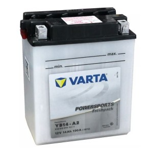 Bateria mota YB14-A2 12V 14Ah Varta alta performance 136x91x166mm +/-