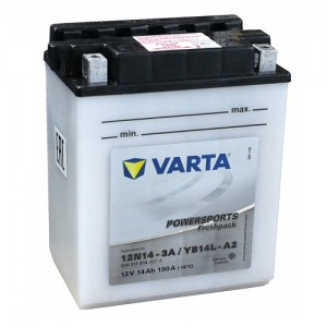 Bateria mota YB14L-A2 12V 14Ah Varta alta performance 136x91x166mm -/+