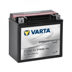 Bateria mota YTX20-BS 12V 18Ah Varta alta performance 177x88x156mm +/-