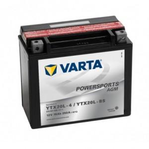 Bateria mota YTX20L-BS 12V 18Ah Varta alta performance 175x87x155mm -/+