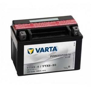 Bateria mota YTX9-BS 12V 8Ah Varta alta performance 150x87x105mm +/-