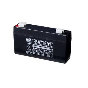 Bateria 6V 1,3Ah (term. F1) VMF AGM standard SLA1.3-6