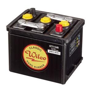 Bateria para clássicos 6V 77Ah 340A(EN) 360A(SAE)Wilco Hard Rubber
