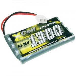 Bateria para Modelismo NiMH 9.6v 1300mAh com ficha Tamiya
