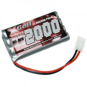 Bateria para Modelismo NiMH 9.6v 2000mAh com ficha Tamiya