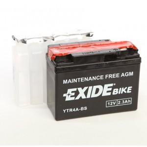Bateria para mota EXIDE YTR4A-BS, 12v 2,3Ah