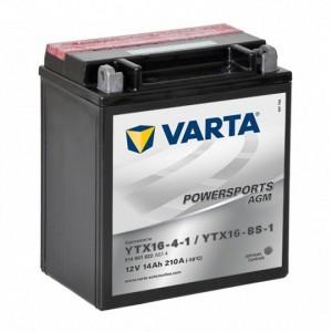 Bateria mota YTX16-BS 12V 14Ah Varta alta performance 150x87x159mm +/-