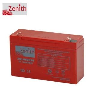 Bateria 6V 12Ah (term. F1) Zenith AGM standard