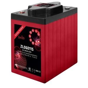 Bateria Deep-Cycle AGM 6V 245Ah (C20) ZENITH ZL060115