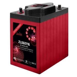 Bateria Deep-Cycle AGM 6V 245Ah (C20) ZENITH ZL060116 (term. AP auto)