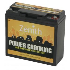 Bateria Dual AGM 12V 20Ah 680A Zenith Arranque + Descarga ZPC120020
