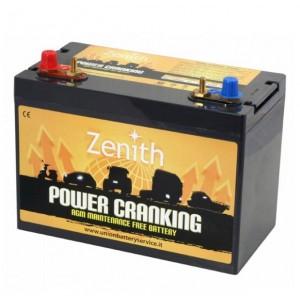 Bateria Dual AGM 12V 100Ah 1950A Zenith Arranque + Descarga (#ZPC120065)