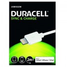 Cabo 2Mtr para iPhone / iPad, tipo Lightning (Duracell) - branco